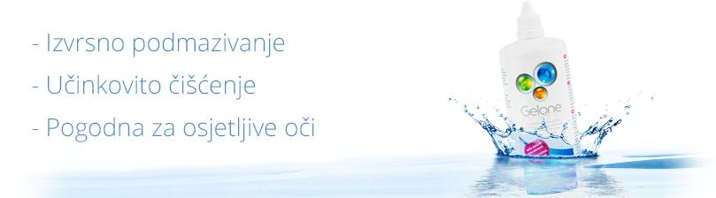 Otopina za kontaktne leće Gelone - izvrsno podmazivanje, učinkovito čišćenje, pogodna za osjetljive oči