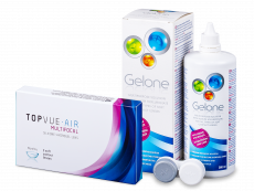 TopVue Air Multifocal (3 kom leća) + otopina Gelone 360 ml